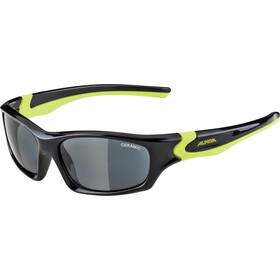 Alpina Flexxy Teen Aurinkolasit Nuoret, black-neon yellow